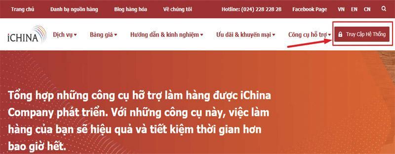 Tạo tài khoản trên iChina để dễ dàng mua và quản lý đơn hàng